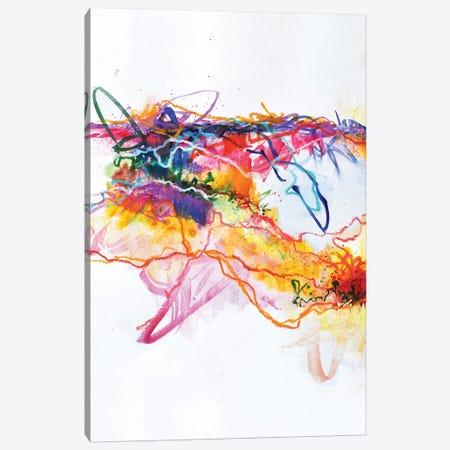 Waving Goodbye  3-Piece Canvas #SJA49} by Sana Jamlaney Canvas Artwork
