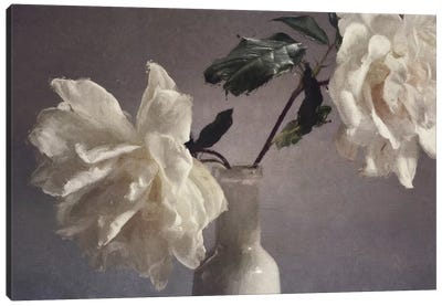 Blooms On My Table Canvas Art Print