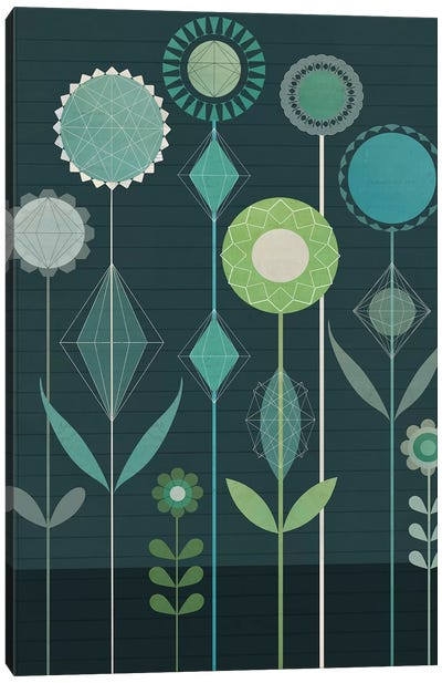 Floral Geometery Canvas Art Print