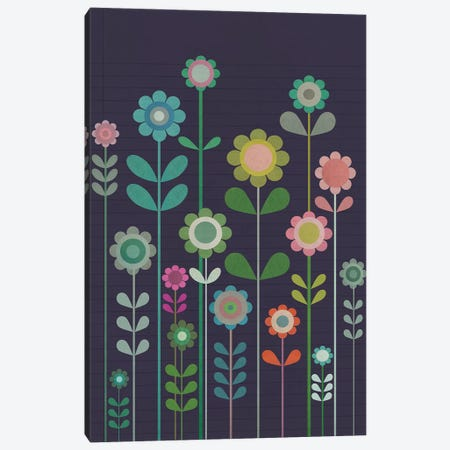 Garden Of Small Flowers Canvas Print #SJR22} by Sarah Jarrett Canvas Print