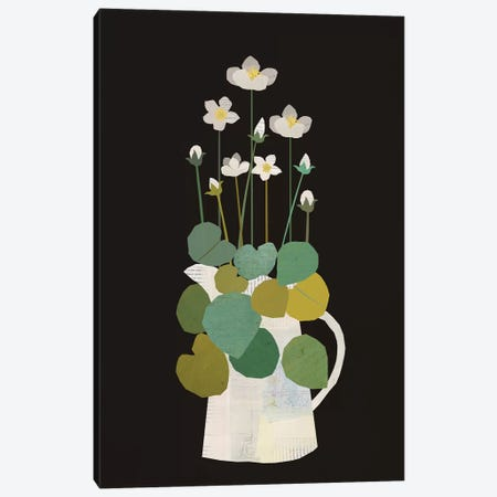 Jug Of Spring Flowers Canvas Print #SJR34} by Sarah Jarrett Art Print