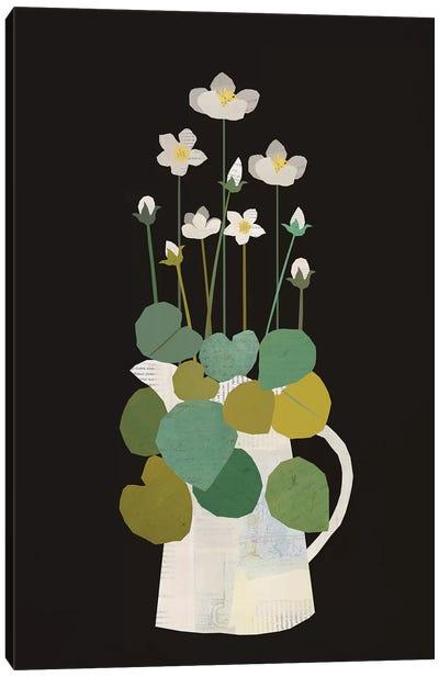 Jug Of Spring Flowers Canvas Art Print