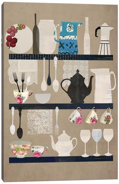 Kitchen Diary Canvas Art Print