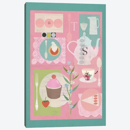Afternoon Tea Canvas Print #SJR3} by Sarah Jarrett Canvas Print