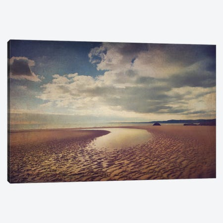 Low Tide Canvas Print #SJR40} by Sarah Jarrett Art Print