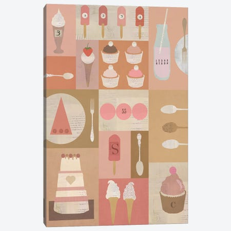 Pink Milk And Other Treats Canvas Print #SJR45} by Sarah Jarrett Canvas Art
