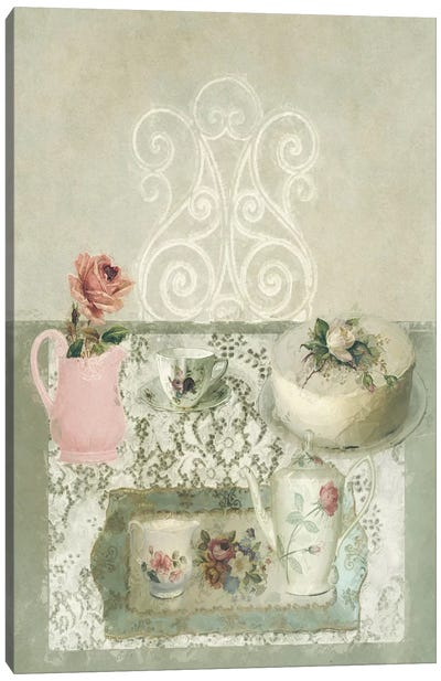 Afternoon Tea Still Life Canvas Art Print