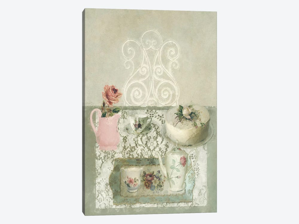 Afternoon Tea Still Life by Sarah Jarrett 1-piece Art Print