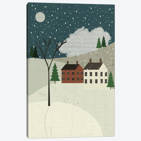 Snow On The Hills Canvas Print #SJR53} by Sarah Jarrett Canvas Artwork