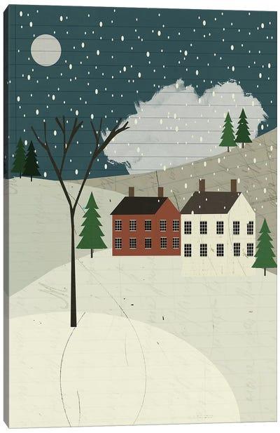 Snow On The Hills Canvas Art Print