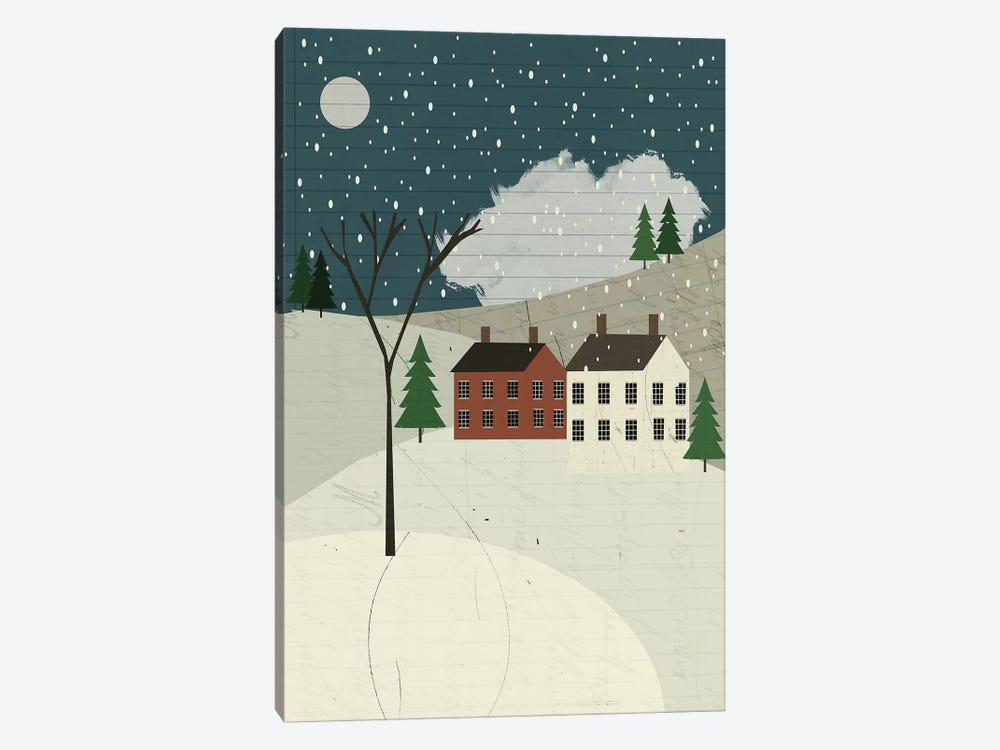 Snow On The Hills by Sarah Jarrett 1-piece Canvas Art Print