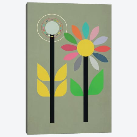 Summer Garden Canvas Print #SJR60} by Sarah Jarrett Canvas Art Print