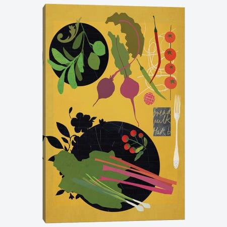 Summer Table Canvas Print #SJR65} by Sarah Jarrett Canvas Art