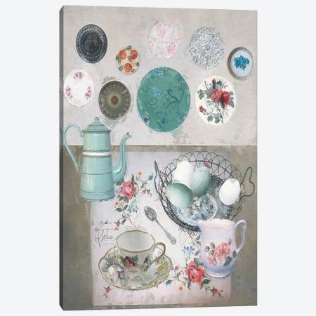 Vintage Plates Canvas Print #SJR76} by Sarah Jarrett Canvas Print
