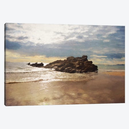 Whitsand Bay In Summer Canvas Print #SJR79} by Sarah Jarrett Canvas Wall Art