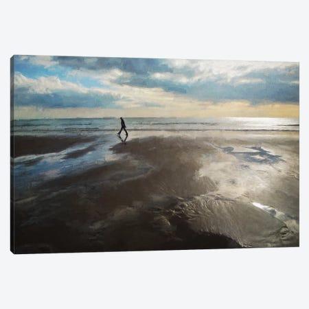 Whitsand Bay In Winter Canvas Print #SJR80} by Sarah Jarrett Canvas Art Print