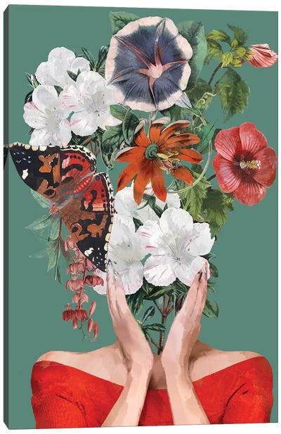 Flower Head Canvas Art Print