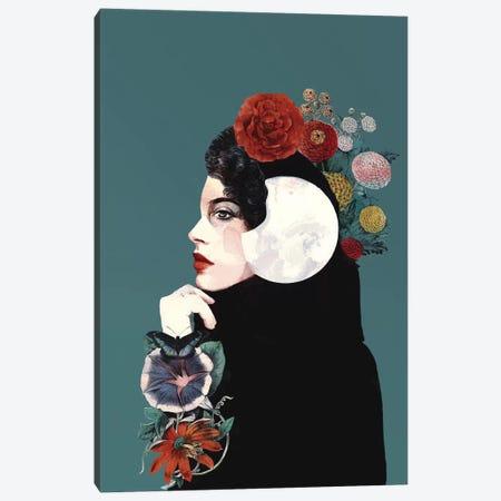 Moon Canvas Print #SJR84} by Sarah Jarrett Canvas Wall Art