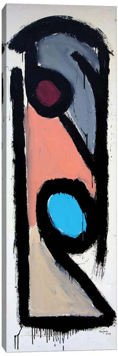 Black Outline Compostion #3 Canvas Art Print