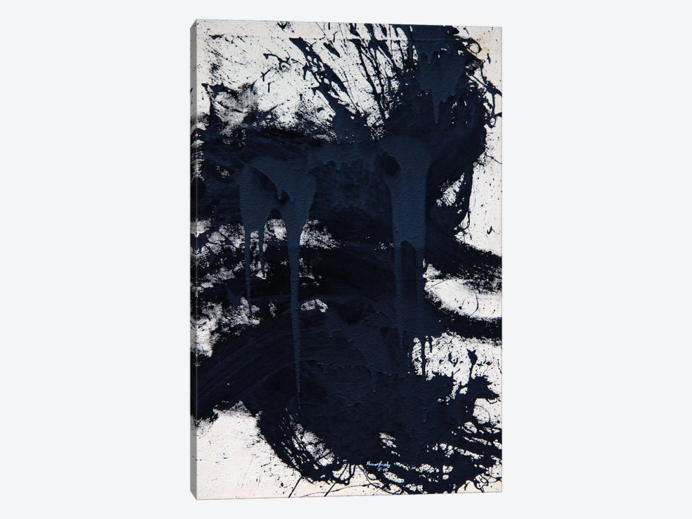 Untitled Black by Shawn Jacobs 1-piece Canvas Art