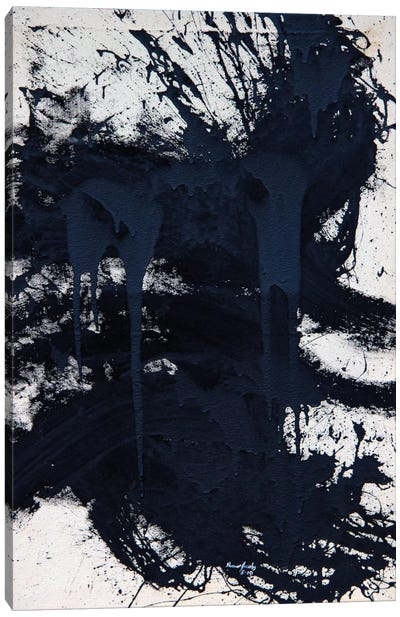 Untitled Black Canvas Art Print