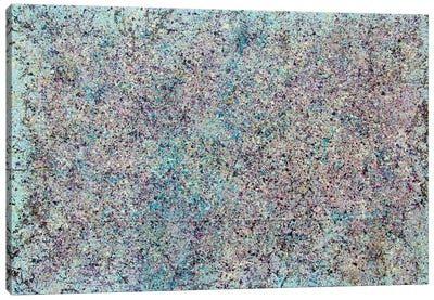 Mist Composition in Azure Canvas Art Print