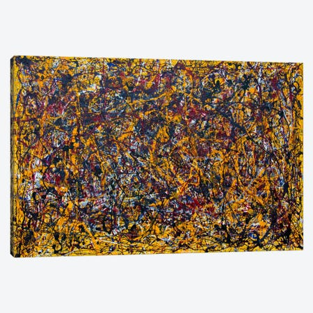 Yellow Composition Canvas Print #SJS90} by Shawn Jacobs Canvas Art Print