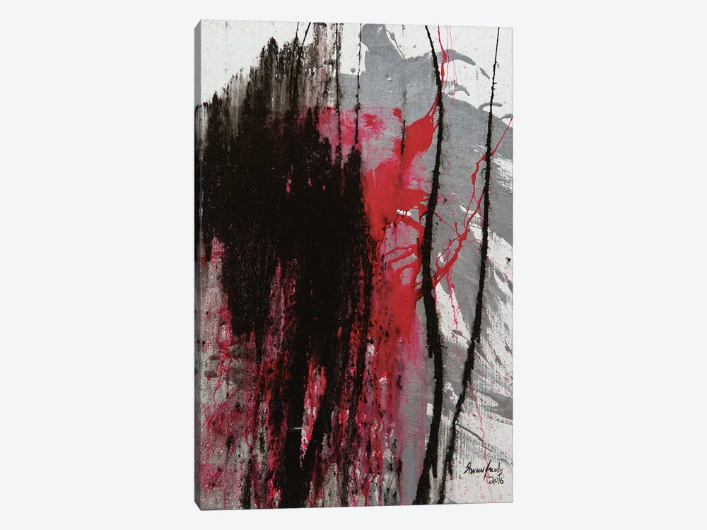 Untitled On White by Shawn Jacobs 1-piece Canvas Art Print