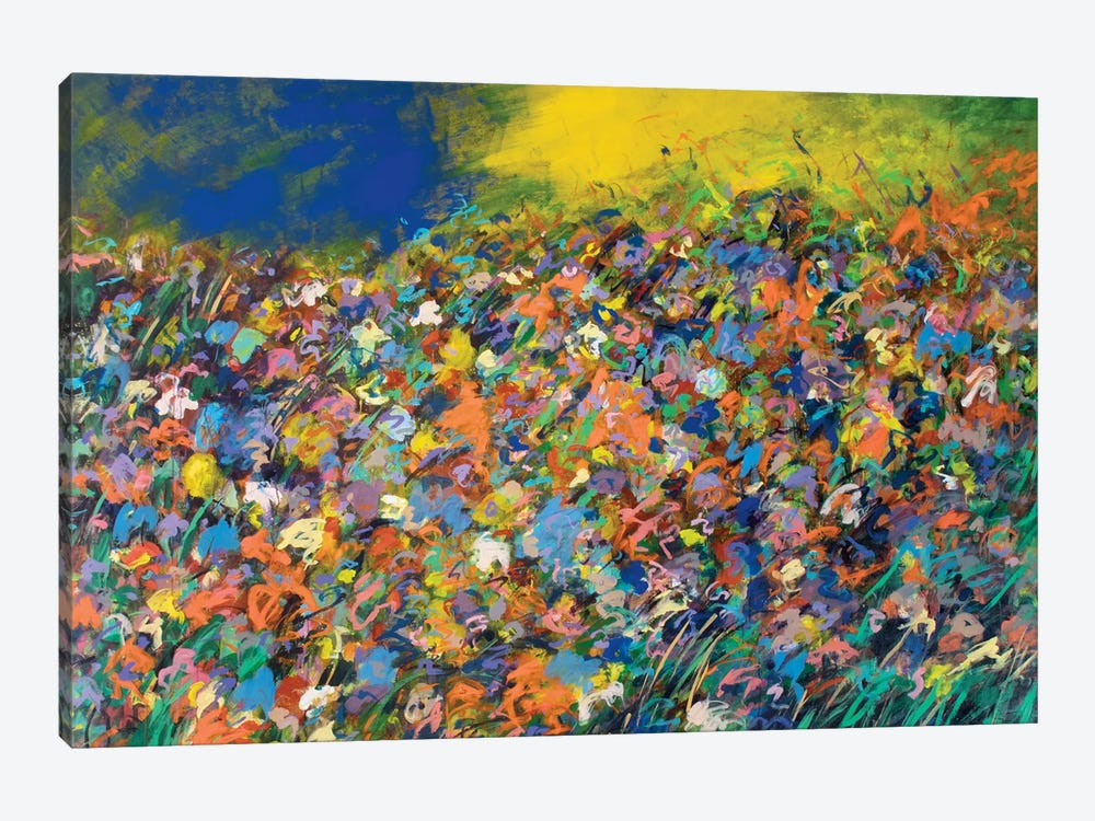 Candied Colored Field by Stefanie Kirby 1-piece Canvas Art Print