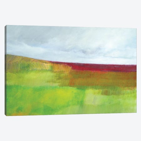 Dorset Green And Red Canvas Print #SKD1} by Skadi Engeln Art Print