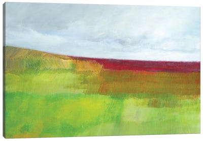 Dorset Green And Red Canvas Art Print