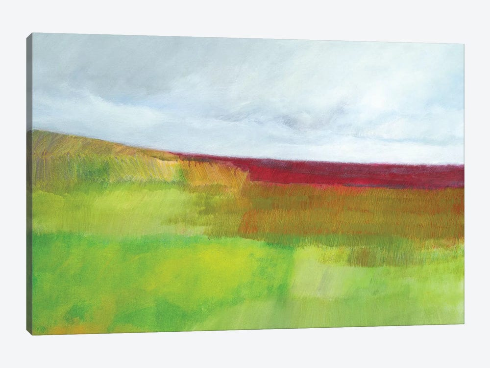Dorset Green And Red by Skadi Engeln 1-piece Canvas Print