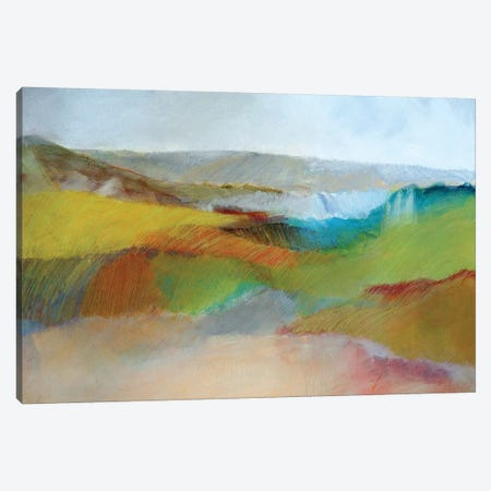 Green, Yellow And Rose Landscape Canvas Print #SKD3} by Skadi Engeln Art Print
