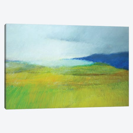 Landscape With Blue 3-Piece Canvas #SKD5} by Skadi Engeln Canvas Artwork