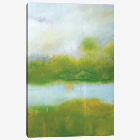 Purple And Green Landscape Canvas Print #SKD6} by Skadi Engeln Canvas Art