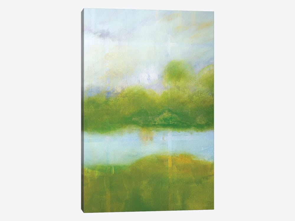 Purple And Green Landscape by Skadi Engeln 1-piece Canvas Art