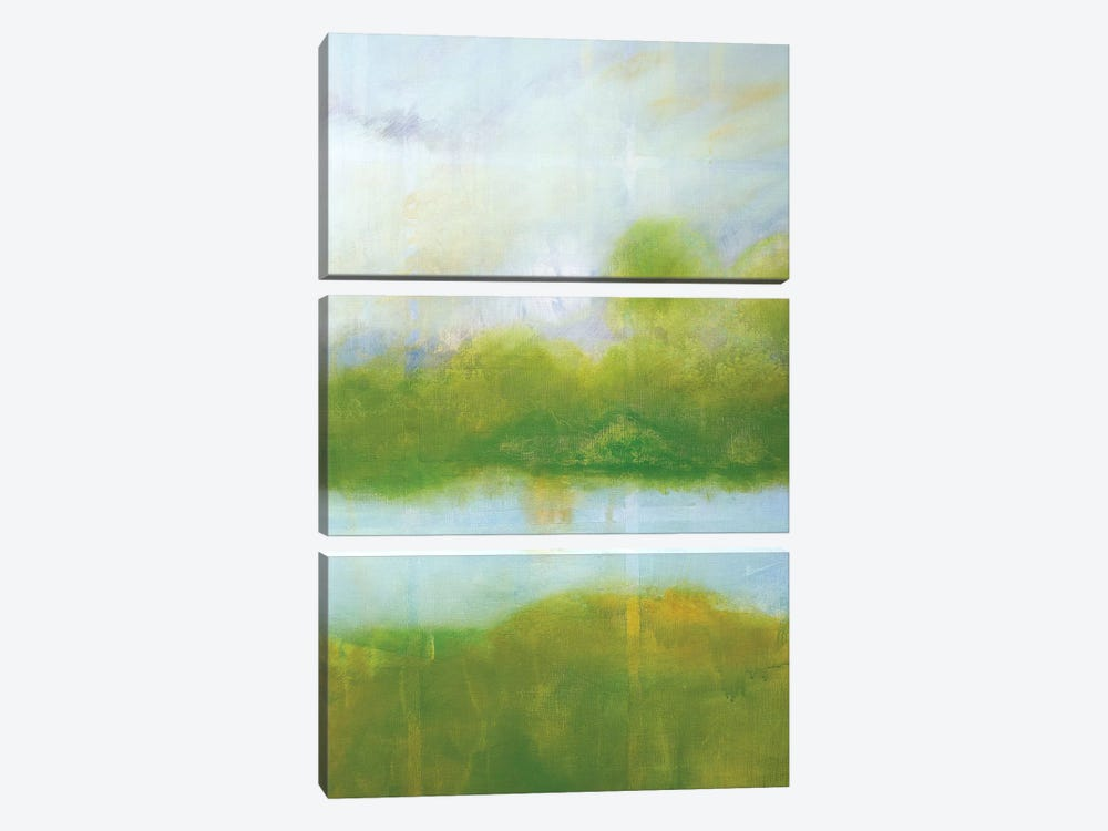 Purple And Green Landscape by Skadi Engeln 3-piece Canvas Wall Art