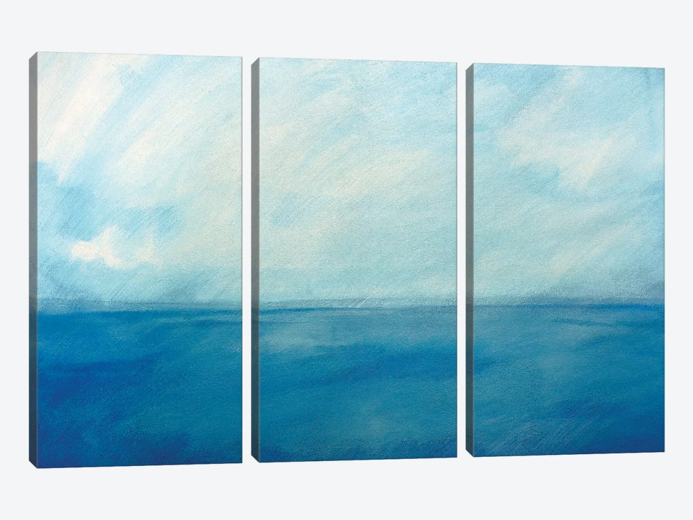 Sky And Sea VI by Skadi Engeln 3-piece Canvas Art