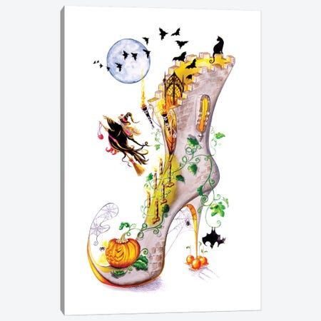 All Hallows Party Canvas Print #SKG10} by Sally King Design Canvas Art