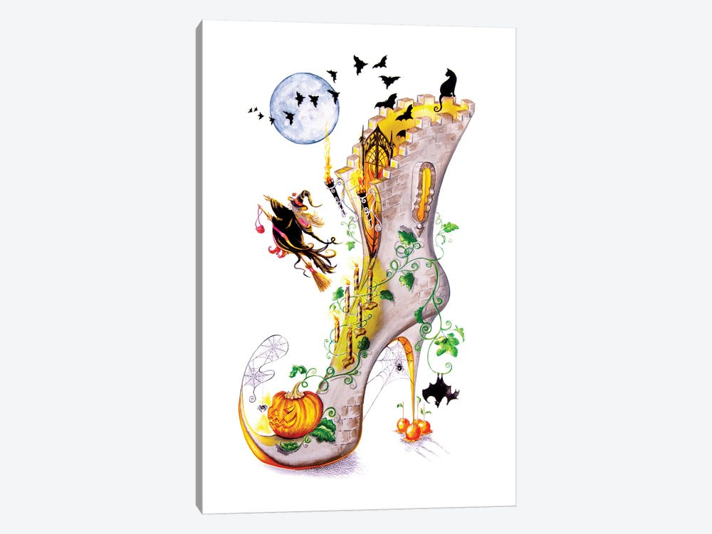 All Hallows Party by Sally King Design 1-piece Art Print