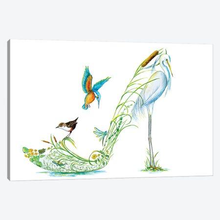 Along The Riverbank Canvas Print #SKG11} by Sally King Design Canvas Artwork