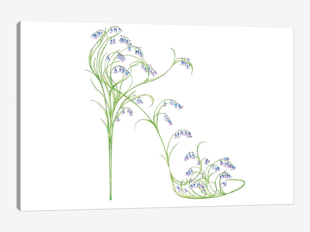 Bluebell Shoe I by Sally King Design 1-piece Canvas Print