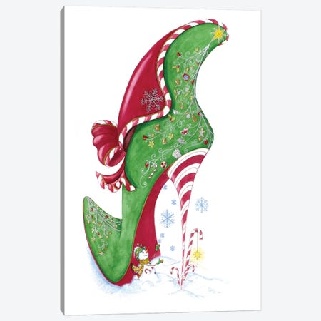 Candy Cane Canvas Print #SKG19} by Sally King Design Canvas Art