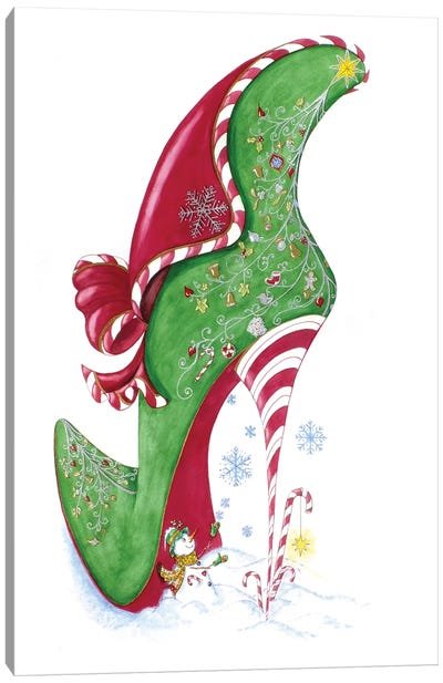 Candy Cane Canvas Art Print