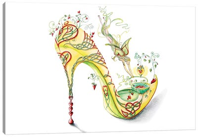Celtic Valentine Shoe Canvas Art Print