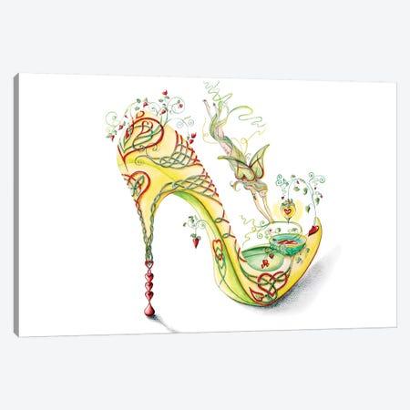 Celtic Valentine Shoe Canvas Print #SKG20} by Sally King Design Art Print