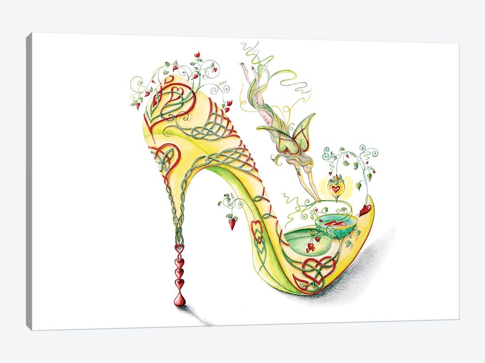 Celtic Valentine Shoe by Sally King Design 1-piece Canvas Artwork