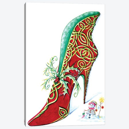 Celtic Yule Canvas Print #SKG21} by Sally King Design Canvas Art Print