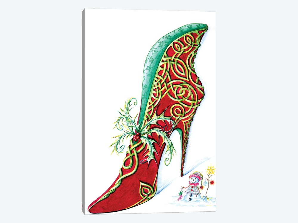 Celtic Yule by Sally King Design 1-piece Canvas Art Print