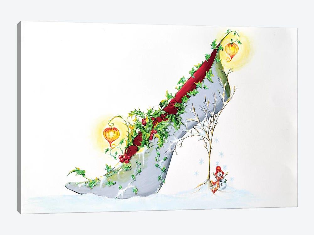 Christmas Lanterns by Sally King Design 1-piece Canvas Wall Art